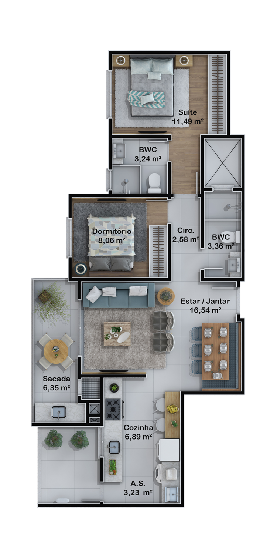 Apartamento final 6 (Planta)